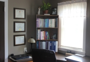 My favorite corner-it's perfect for studying, sewing, paperwork and so many other things!