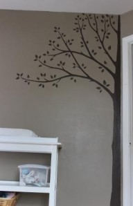 The lovely tree that my mom painted while she was here visiting